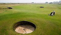 SANDWICH (GB) - Double Dubbele green van hole 4 en 8 van Himalayas. The Prince's Golf Club. COPYRIGHT KOEN SUYK