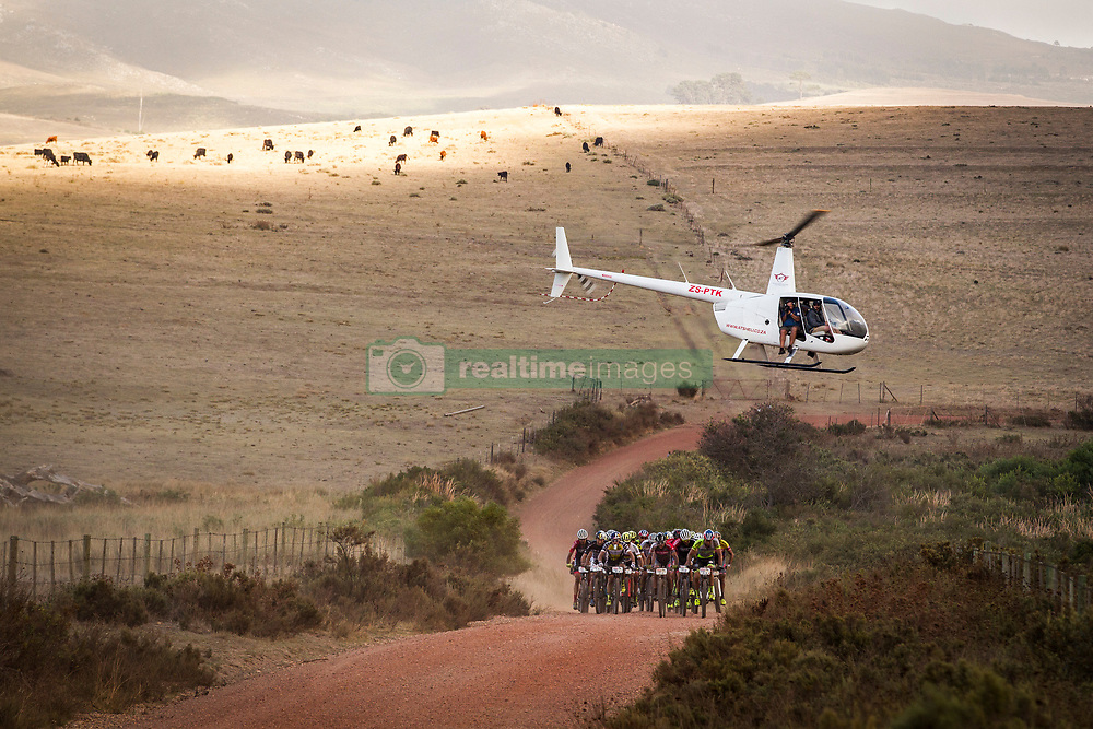 The leading bunch during stage 1 of the 2017 Absa Cape Epic Mountain Bike stage race held from Hermanus High School in Hermanus, South Africa on the 20th March 2017<br /> <br /> Photo by Nick Muzik/Cape Epic/SPORTZPICS<br /> <br /> PLEASE ENSURE THE APPROPRIATE CREDIT IS GIVEN TO THE PHOTOGRAPHER AND SPORTZPICS ALONG WITH THE ABSA CAPE EPIC<br /> <br /> ace2016