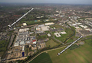 aerial photograph of the Boots factory site in Nottingham Nottinghamshire  England Great Britain UK