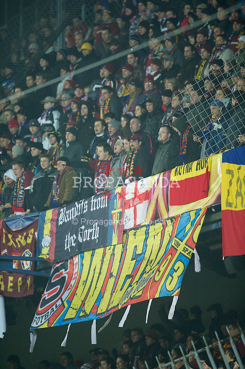 PRAGUE, CZECH REPUBLIC, Thursday, February 17, 2011: AC Sparta Prague's supporters during the UEFA Europa League Round of 32 1st leg match against Liverpool at the Letna? Stadion . (Photo by David Rawcliffe/Propaganda)