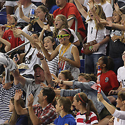 Fans during the U.S. Women Vs Korea Republic friendly soccer match at Red Bull Arena, Harrison, New Jersey. USA. 20th June 2013. Photo Tim Clayton
