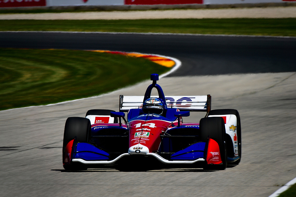 Tony Kanaan, A.J. Foyt Enterprises Chevrolet<br /> Saturday 23 June 2018<br /> KOHLER Grand Prix at Road America<br /> Verizon IndyCar Series<br /> Road America WI USA<br /> World Copyright: Scott R LePage