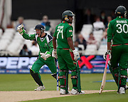 Niall O'Brien celebrates stumping Mahmudullah during the ICC World Twenty20 Cup match between Bangladesh and Ireland at Trent Bridge, Nottingham. Photo © Graham Morris (Tel: +44(0)20 8969 4192 Email: sales@cricketpix.com)
