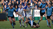 2005/06, Heineken Cup,Bath's Michael Lipman breaks through with the ball to set up a another Bath attack.  Bath Rugby vs Glasgow Warriors, The Rec, Bath, ENGLAND   © Peter Spurrier/Intersport Images - email images@intersport-images..   [Mandatory Credit, Peter Spurier/ Intersport Images].