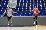 DESCRIZIONE: Berlino EuroBasket 2015 - Allenamento<br /> GIOCATORE:Alessandro Gentile Danilo Gallinari<br /> CATEGORIA: Allenamento<br /> SQUADRA: Italia Italy<br /> EVENTO:  EuroBasket 2015 <br /> GARA: Berlino EuroBasket 2015 - Allenamento<br /> DATA: 07-09-2015<br /> SPORT: Pallacanestro<br /> AUTORE: Agenzia Ciamillo-Castoria/M.Longo<br /> GALLERIA: FIP Nazionali 2015<br /> FOTONOTIZIA: Berlino EuroBasket 2015 - Allenamento