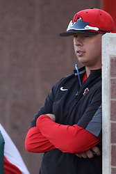21 April 2015:  Michael Kellar during an NCAA Inter-Division Baseball game between the Illinois Wesleyan Titans and the Illinois State Redbirds in Duffy Bass Field, Normal IL