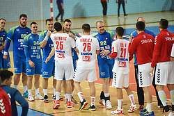 Tean Serbia and Slovenia after during friendly handball match between Slovenia and Srbija, on 27th, 2019 in Športna dvorana Lukna, Maribor, Slovenia. Photo by Milos Vujinovic / Sportida