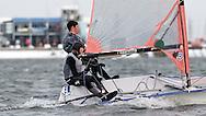 ENGLAND, London, Queen Mary Sailing Club, January 9th 2010, Bloody Mary Pursuit Race, 29er 1233, James Bolingbroke, helm, (Dabchicks SC)