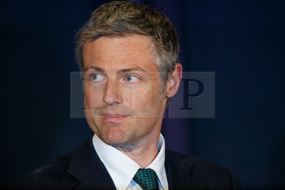 © Licensed to London News Pictures. 07/05/2016. London, UK. London Mayoral candidate ZAC GOLDSMITH reacting to announcement of the election results at City Hall in London on Saturday, 7 May 2016. Labour MP Sadiq Khan has declared his victory and accused his Conservative counterpart, Zac Goldsmith MP of using underhand tactics during the campaign. Photo credit: Tolga Akmen/LNP