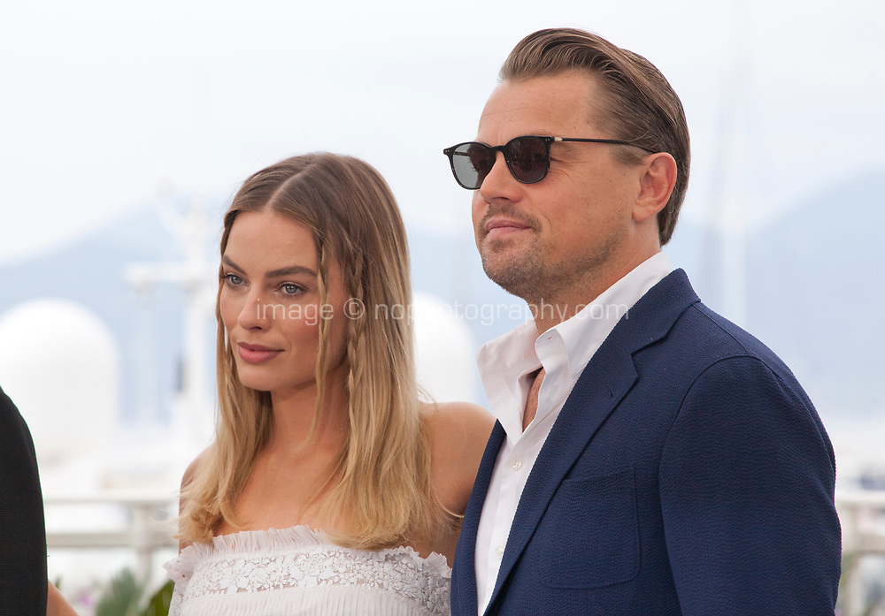 Leonardo DiCaprio and Margot Robbie at Once Upon A Time... In Holywood film photo call at the 72nd Cannes Film Festival, Wednesday 22nd May 2019, Cannes, France. Photo credit: Doreen Kennedy