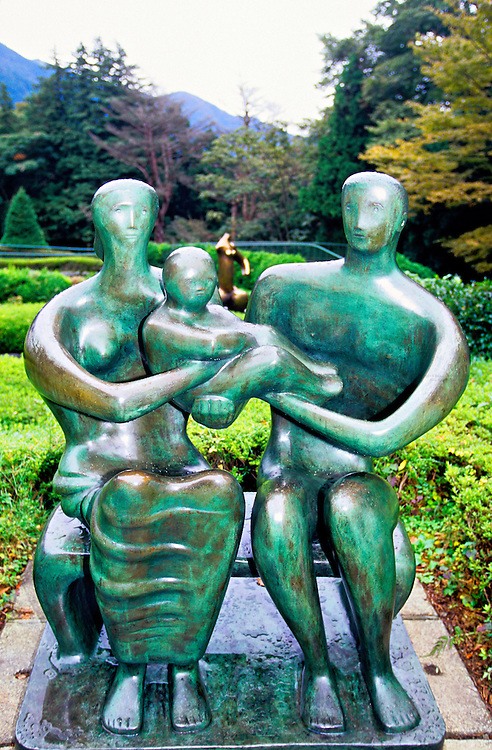 """""""Family Group"""" by Henry Moore, Hakone Open-Air Museum, Hakone, Japan"""
