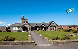 View of Clubhouse of Caledonia Golf Club in Carnoustie , Angus, Scotland, UK