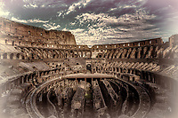 """Western entrance evening view of the Roman Colosseum - Tinto""…<br />