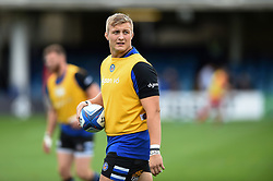Jack Walker of Bath Rugby looks on during the pre-match warm-up - Mandatory byline: Patrick Khachfe/JMP - 07966 386802 - 13/10/2018 - RUGBY UNION - The Recreation Ground - Bath, England - Bath Rugby v Toulouse - Heineken Champions Cup