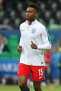 England Forward Daniel Sturridge in warm up during the Euro 2016 Group B match between Slovakia and England at Stade Geoffroy Guichard, Saint-Etienne, France on 20 June 2016. Photo by Phil Duncan.