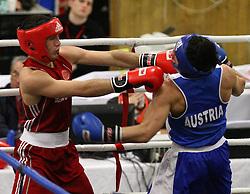 01.03.2013, Rundhalle Steigtentschgasse, AUT, Vienna International Boxcup 2013, Avak Uzlyan (RUS) vs Khamzat Musaev (AUT) // during the Vienna International Boxcup 2013 fight between Avak Uzlyan (RUS) and Khamzat Musaev (AUT) at the Roundhall Steigtentschgasse, Vienna, Austria on 2013/03/01. EXPA Pictures © 2012, PhotoCredit: EXPA/ Thomas Haumer