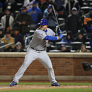 Anthony Rizzo, Chicago Cubs, batting during the MLB NLCS Playoffs game two, Chicago Cubs vs New York Mets at Citi Field, Queens, New York. USA. 18th October 2015. Photo Tim Clayton