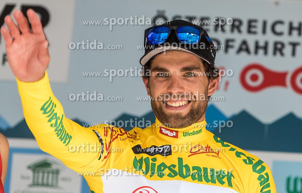 04.07.2016, Steyr, AUT, Ö-Tour, Österreich Radrundfahrt, 2. Etappe, Mondsee nach Steyr, im Bild gelbes Trikot, Andrea Pasqualon (ITA, Team Roth) // Yellow Jersey Andrea Pasqualon (ITA Team Roth) during the Tour of Austria, 2nd Stage from Mondsee to Steyr, Austria on 2016/07/04. EXPA Pictures © 2016, PhotoCredit: EXPA/ JFK
