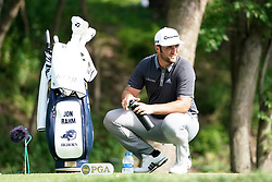 August 9, 2018 - St. Louis, Missouri, United States - Jon Rahm on the 11th tee during the first round of the 100th PGA Championship at Bellerive Country Club. (Credit Image: © Debby Wong via ZUMA Wire)