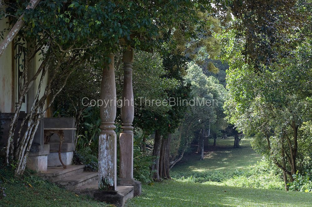 The West Verandah and a view South.<br /> <br /> Lunuganga, the country home and garden of Geoffrey Bawa.
