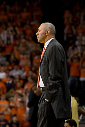 Virginia head coach Dave Leitao. The Virginia Cavaliers men's basketball team fell to the Georgia Tech Yellow Jackets 92-82 in overtime at the John Paul Jones Arena in Charlottesville, VA on January 27, 2008.