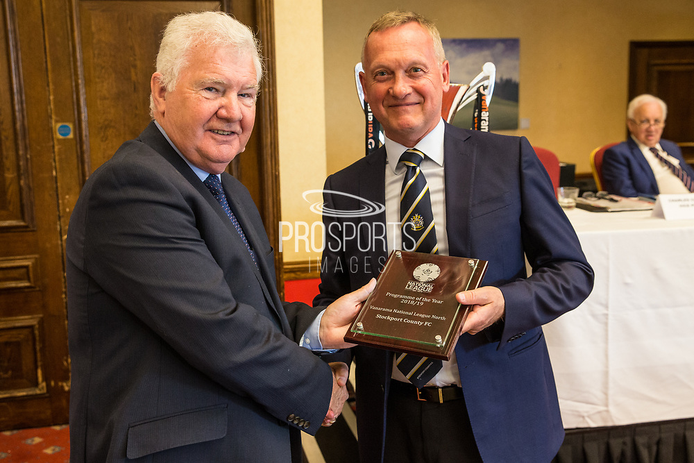 Programme of the Year, NLN Stockport County during the National League Gala Awards at Celtic Manor Resort, Newport, United Kingdom on 8 June 2019.