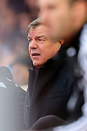 Manager of West Ham United, Sam Allardyce looks bemused following the opening goal of the Barclays Premier League match from Wilfried Bony of Swansea City at the Boleyn Ground, London<br /> Picture by Richard Calver/Focus Images Ltd +447792 981244<br /> 07/12/2014