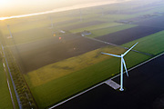 Nederland, Flevoland, Zeewolde, 28-10-2014; Windpark Eemmeerdijk. Windfarm Amalia.<br /> luchtfoto (toeslag op standaard tarieven);<br /> aerial photo (additional fee required);<br /> copyright&copy; foto/photo Siebe Swart