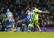 Brighton midfielder, winger, Kazenga LuaLua (30) during the Sky Bet Championship match between Brighton and Hove Albion and Huddersfield Town at the American Express Community Stadium, Brighton and Hove, England on 23 January 2016.