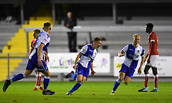 Luke Russe celebrates his goal - Mandatory by-line: Paul Knight/JMP - 16/11/2017 - FOOTBALL - Woodspring Stadium - Weston-super-Mare, England - Bristol City U23 v Bristol Rovers U23 - Central League Cup