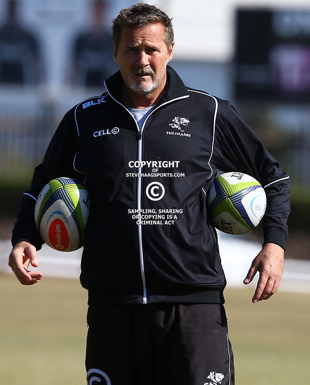 DURBAN, SOUTH AFRICA, 18,JULY, 2016 -Robert du Preez (Assistant Coach) of the Cell C Sharks during The Cell C Sharks training session at Growthpoint Kings Park in Durban, South Africa. (Photo by Steve Haag)<br /> <br /> images for social media must have consent from Steve Haag