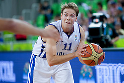 Petteri Koponen #11 of Finland during basketball match between National teams of Finland and Croatia in 2nd Round at Day 9 of Eurobasket 2013 on September 12, 2013 in SRC Stozice, Ljubljana, Slovenia. (Photo By Urban Urbanc / Sportida)