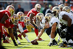 SANTA CLARA, CA - NOVEMBER 06: The New Orleans Saints line up opposite the San Francisco 49ers for a play during the first quarter at Levi's Stadium on November 6, 2016 in Santa Clara, California.  (Photo by Jason O. Watson/Getty Images) *** Local Caption ***