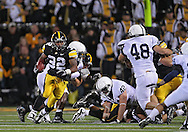 October 2 2010: Iowa Hawkeyes running back Adam Robinson (32) during the first half of the NCAA football game between the Penn State Nittany Lions and the Iowa Hawkeyes at Kinnick Stadium in Iowa City, Iowa on Saturday October 2, 2010. Iowa defeated Penn State 24-3.