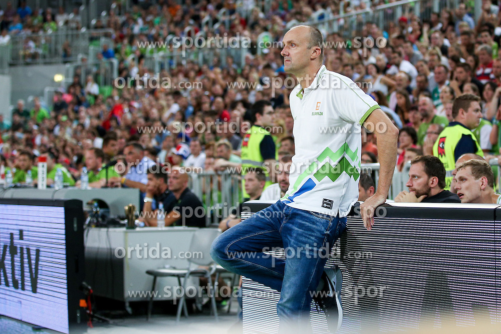 Jure Zdovc, head coach of Slovenia, at friendly basketball match between National teams of Slovenia and Serbia, on August 27 in SRC Stozice, Ljubljana, Slovenia. Photo by Matic Klansek Velej / Sportida August 27, 2015