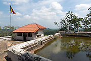 Pond at top terrace.<br /> The Rock of Mulkirigala rises about 676 feet from the surrounding land mass. There are seven cave temples situated in five Terraced areas of different altitudes. They are the Lower Terrace (Patha Maluwa), Bo Tree Terrace ( Bodhi Maluwa). Great King's Temple Terrace ( Raja Maha Vihara Maluwa), Upper Bo Tree Terrace (Uda Bodhi Maluwa) and Chetiya Terrace (Chaitya Maluwa). These terraces can be accessed comfortably through well paved granite paths and steps going right upto the Dagoba Terrace.