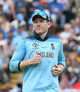 Eoin Morgan of England during the ICC Cricket World Cup 2019 semi final match between Australia and England at Edgbaston, Birmingham, United Kingdom on 11 July 2019.