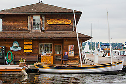 United States, Washington, Seattle. The Center For Wooden Boats on Lake Union.