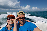 Grand Cayman. Boat excursion. Heimo Aga + Nicole Schmidt.
