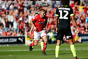Swindon Town forward Eoin Doyle celebrates a goal (2-0) during the EFL Sky Bet League 2 match between Swindon Town and Macclesfield Town at the County Ground, Swindon, England on 14 September 2019.