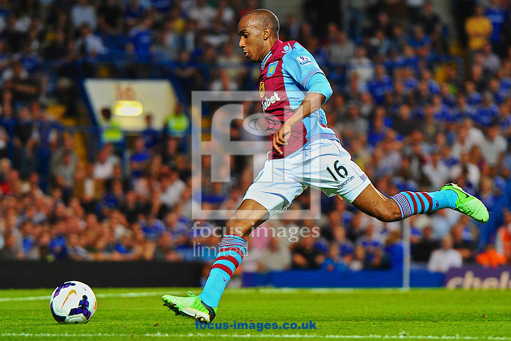 Picture by Ian Wadkins/Focus Images Ltd +44 7877 568959<br /> 21/08/2013<br /> Fabian Delph of Aston Villa during the Barclays Premier League match at Stamford Bridge, London.
