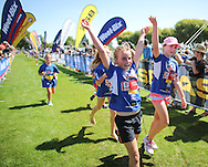 Kids in action in the Weetbix Kids Tryathlon, Hastings, New Zealand. Wednesday, 12 February, 2014. Photo: John Cowpland / photosport.co.nz