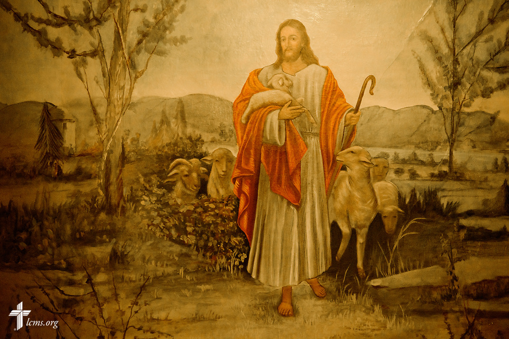 A painting depicting Jesus Christ in the sanctuary at St. Martini Lutheran Church on Tuesday, Nov. 14, 2017, in Milwaukee. LCMS Communications/Erik M. Lunsford