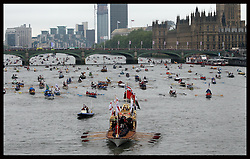 Thames Diamond Jubilee Pageant in London, Sunday 3rd  June 2012.  Photo by: Stephen Lock / i-Images