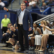 HARTFORD, CONNECTICUT- DECEMBER 19:  Head coach Geno Auriemma reacts on the sideline during the UConn Huskies Vs Ohio State Buckeyes, NCAA Women's Basketball game on December 19th, 2016 at the XL Center, Hartford, Connecticut (Photo by Tim Clayton/Corbis via Getty Images)