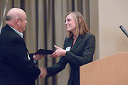 18174Sales Celebration and Awards Ceremony, April 19, 2007. Walter Hall Rotunda...Wycott Award presented by Jim Wycoff to Julie Anstine