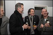 STEVE LAZARIDES;  DAVID WEBSTER; STEPHEN WEBSTER; PAUL ROWE Antony Micallef private at Lazarides Rathbone, 11 RATHBONE PLACE, London. 12 February 2015