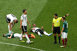 June 17, 2018 - Moscow, Russia - June 17, 2018, Russia, Moscow, FIFA World Cup, First round, Group F, Germany vs Mexico at the Luzhniki stadium. Players of the national team Germany - Mexico (Credit Image: © Russian Look via ZUMA Wire)