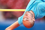 Poland, Warsaw - 2017 August 15: Sylwester Bednarek (RKS Lodz) of Poland competes in men&rsquo;s high jump during Memorial of Kamila Skolimowska at Stadion PGE Narodowy on August 15, 2017 in Warsaw, Poland.<br /> <br /> Mandatory credit:<br /> Photo by &copy; Adam Nurkiewicz<br /> <br /> Adam Nurkiewicz declares that he has no rights to the image of people at the photographs of his authorship.<br /> <br /> Picture also available in RAW (NEF) or TIFF format on special request.<br /> <br /> Any editorial, commercial or promotional use requires written permission from the author of image.
