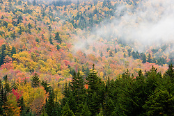 Fall in New Hampshire's White Mountains.  Crawford Notch.